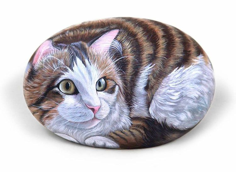incre bles pinturas de animales sobre piedra entra lince arte pinterest peinture. Black Bedroom Furniture Sets. Home Design Ideas