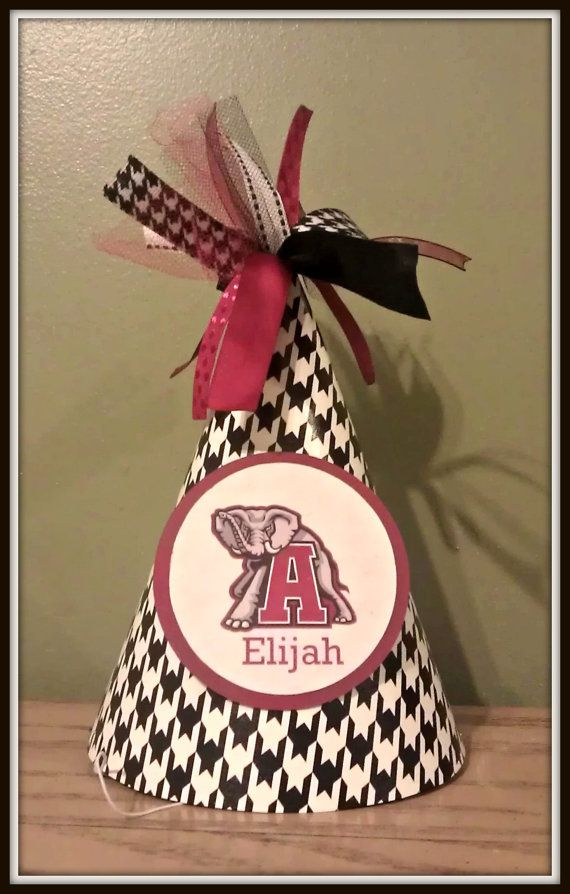Alabama Crimson Tide Birthday Hat by DickensDesigns on Etsy 500
