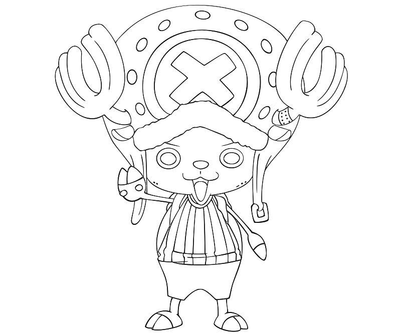 Tony Tony Chopper One Piece Coloring Pages But Chi