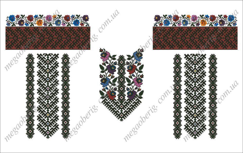Схема вишиванки жіночої 08V Сучасна Борщівська вишиванка  9153a46aaf27d