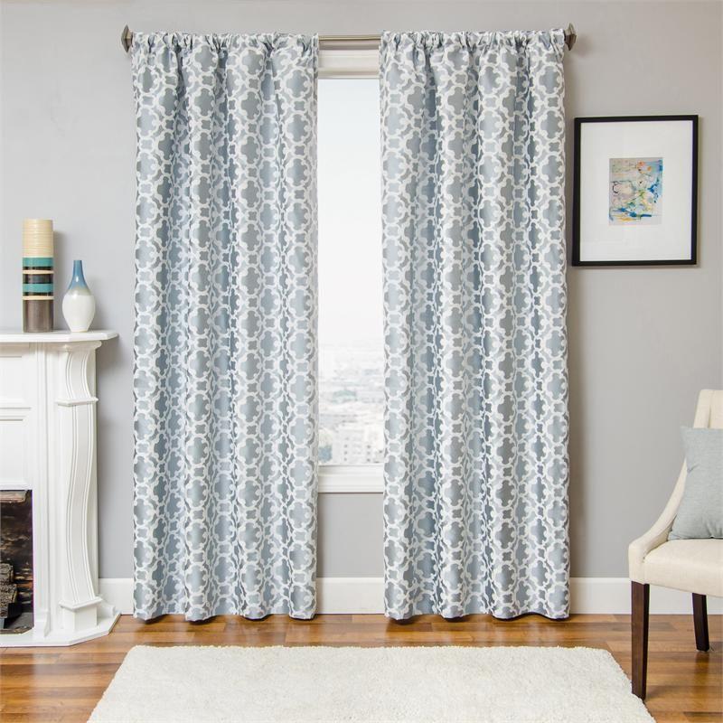 Palisade Tile Curtain Panel | BestWindowTreatments.com