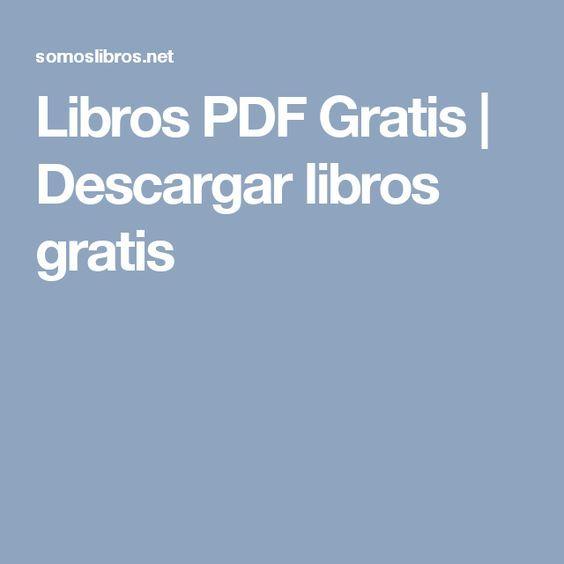 descargar libros gratis en pdf para leer