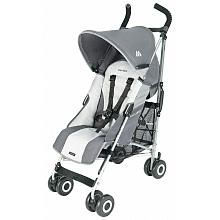 Lightweight high quality stroller (buggy) by Maclaren.  Has canopy, storage basket, carry strap, and small pocket for mum's keys and cell.