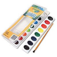 Crayola Glitter Watercolor Paints With Brush 8ct Adult Unisex