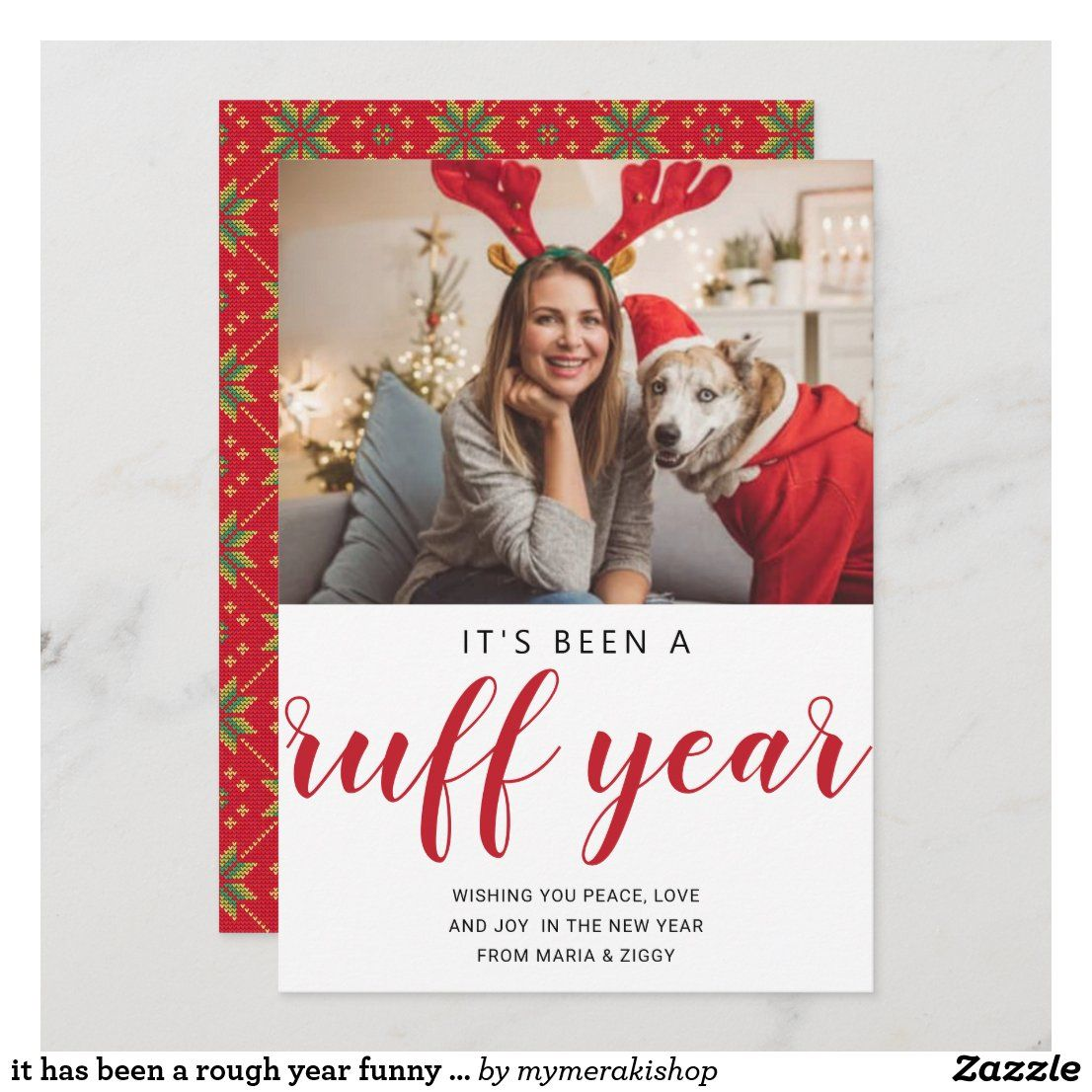 It Has Been A Rough Year Funny 2020 Christmas Holiday Card Zazzle Com Holiday Cards Holiday Design Card Funny Christmas Cards
