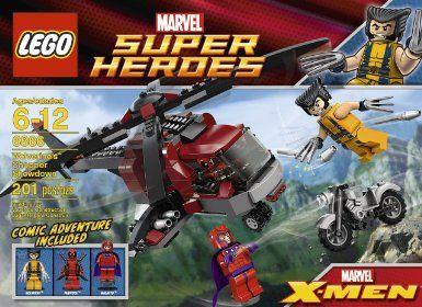 SEALED 6866 LEGO X Men Wolverine/'s Chopper Showdown with Deadpool 201 pc RETIRED