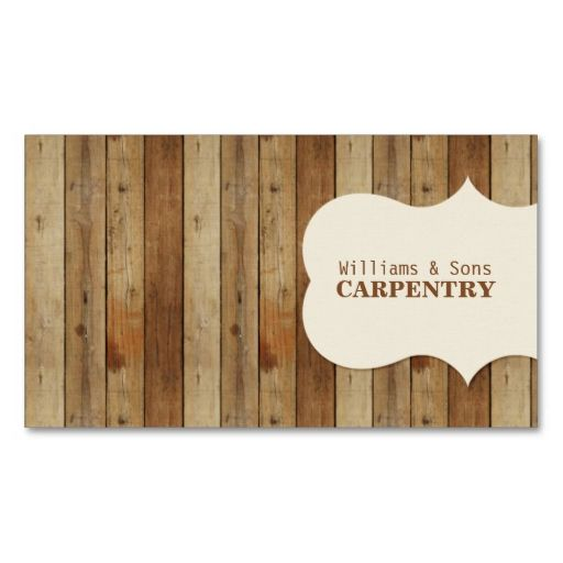 Wooden Carpentry Business Card Carpentry Business Cards And - Carpenter business card template