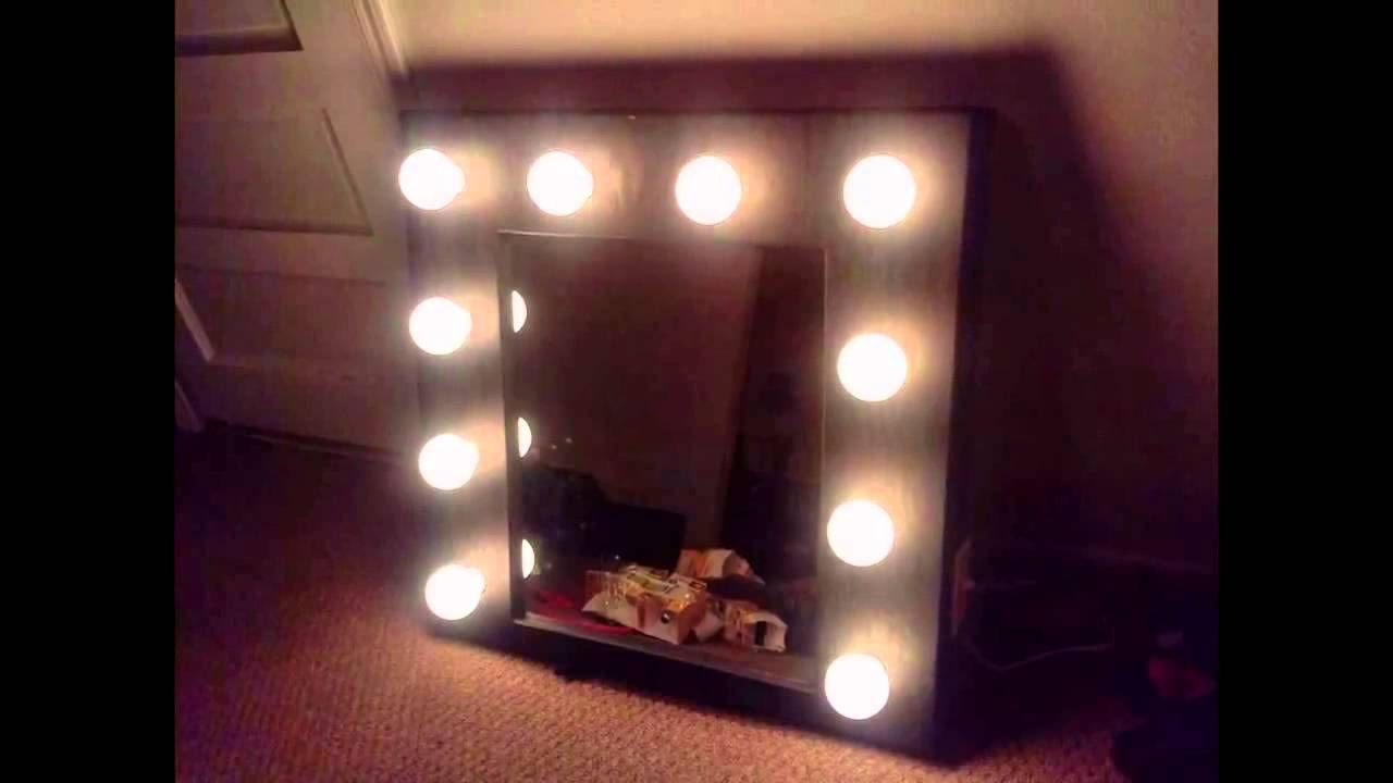 Vanity Mirror With Lights Walmart Adorable Homemade Lighted Vanity Mirror  My Dream House  Pinterest Review