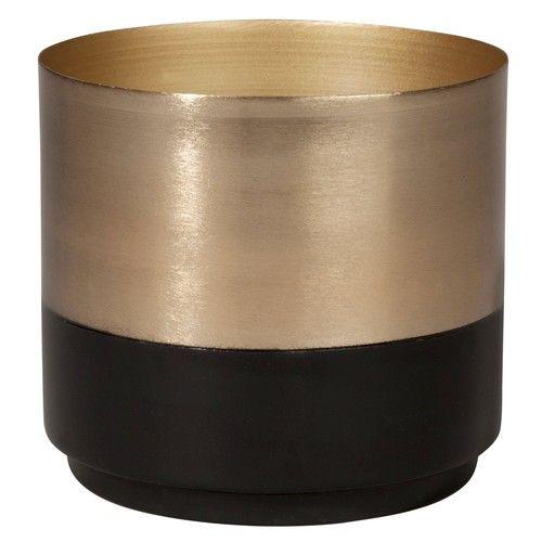 Cache pot noir et or