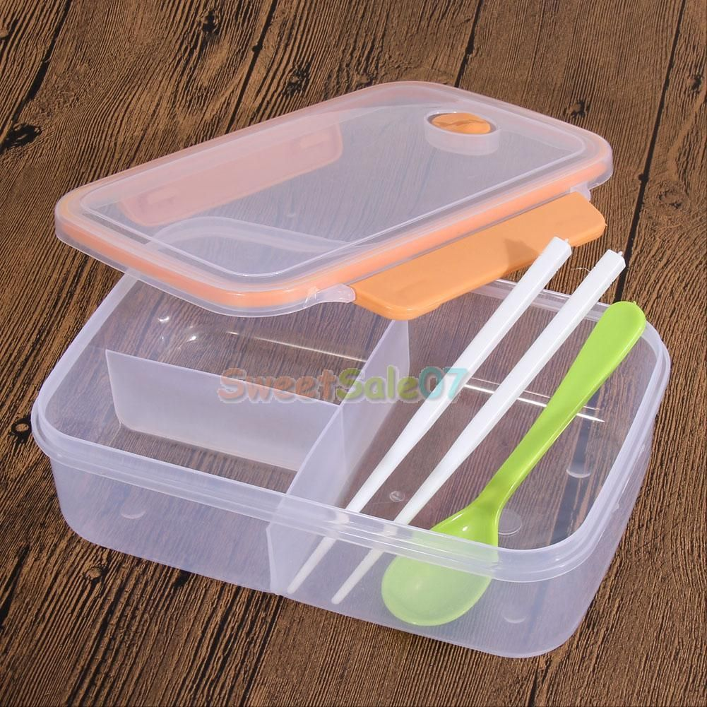 Gentil Lunch Box Food Container Picnic Storage Portable Bento Microwave Bowl Spoon  NEW | EBay
