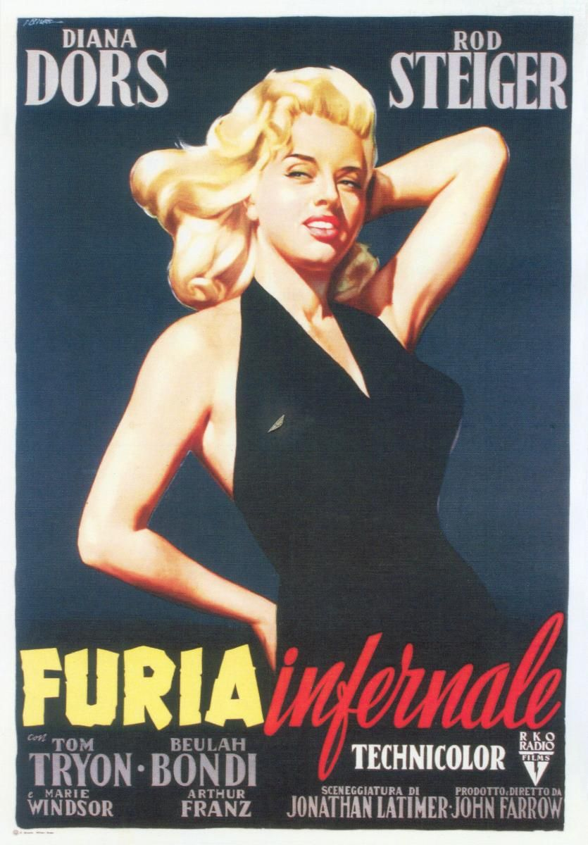 An italian poster for the 1957 diana dors noir the unholy wife source