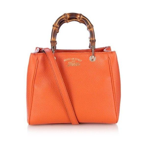 dd24aa4453e GUCCI Bamboo mini leather cross-body bag ( 1