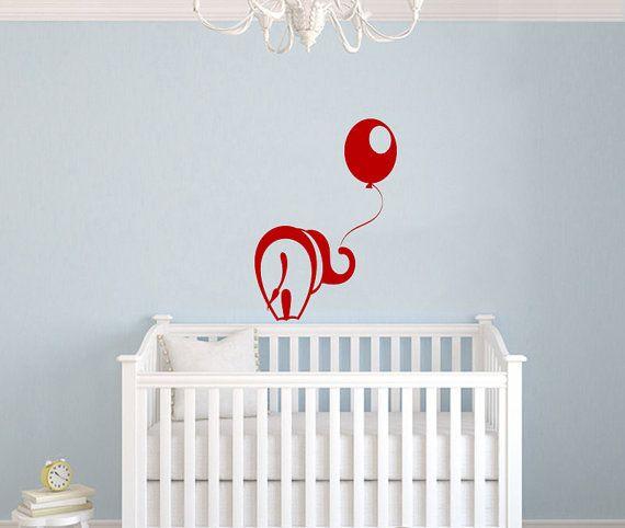 Elephant Animal Balloon Wall Vinyl Decal by SuperVinylDecal, $24.99