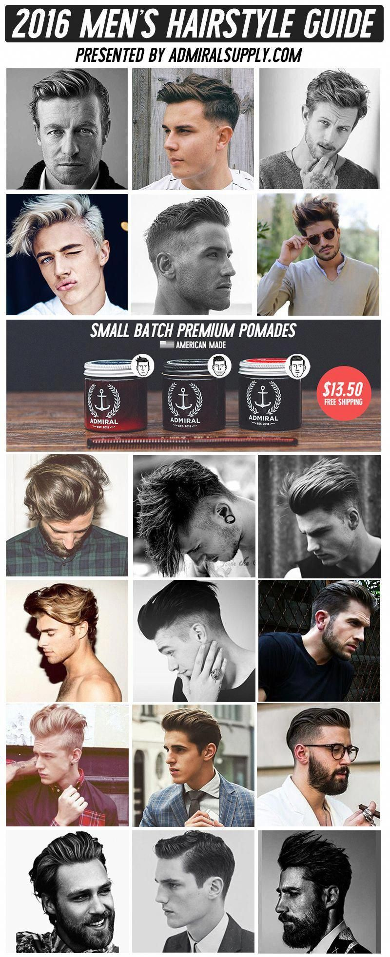 2016 Summer Men\'s Classic Hairstyle Guide (18 Different ...