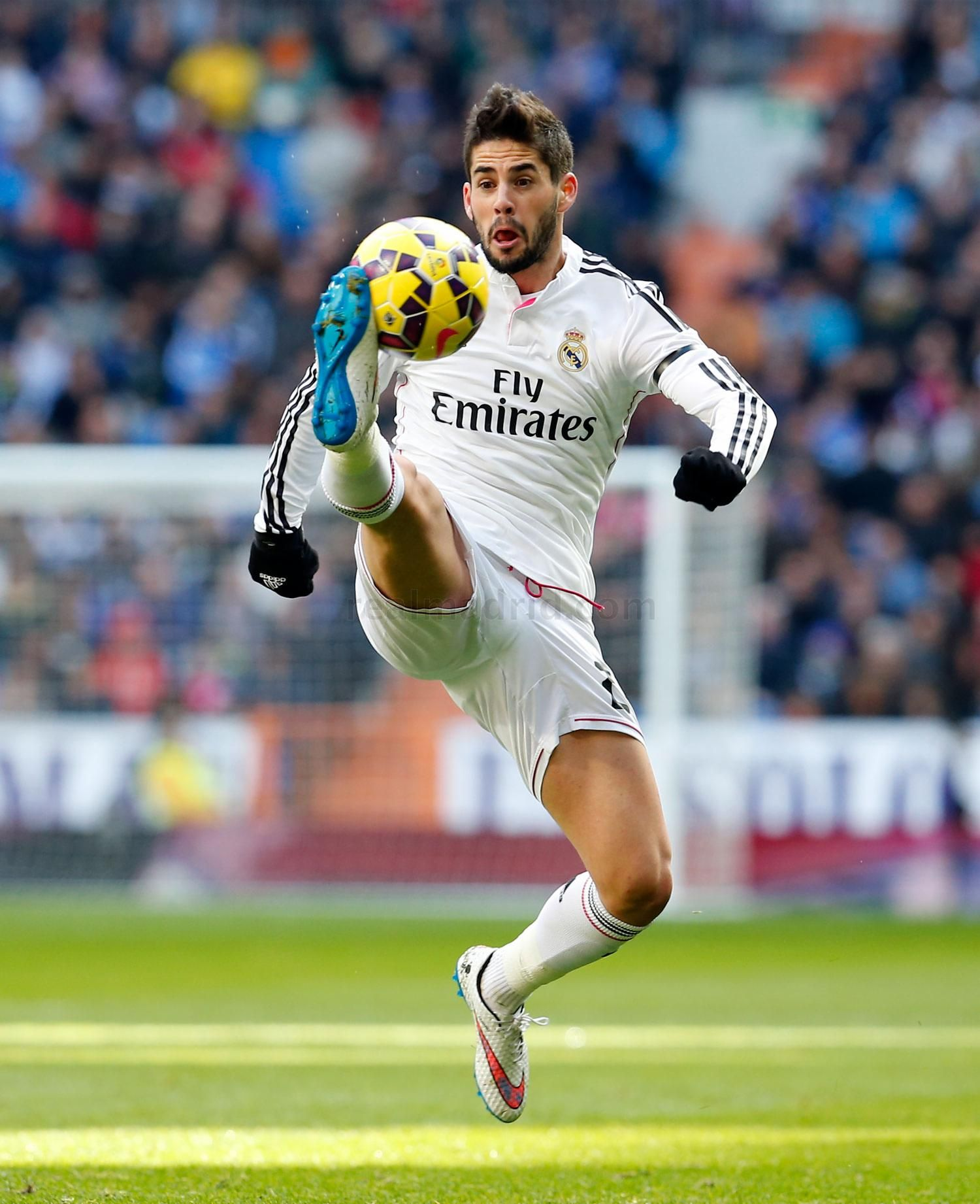 Isco of Real Madrid in action during the La Liga match between