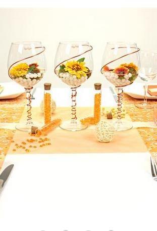 Tischdeko In Der Farbe Orange Die Komplette Tischdekoration Findest