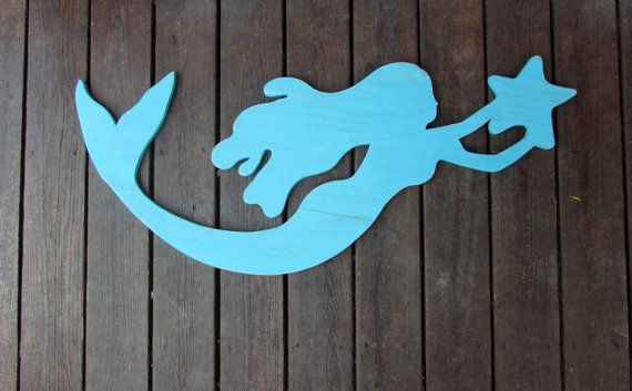 Large Reclaimed Wood Mermaid. Handmade Mermaid. by LakeShoreHome #mermaidsign