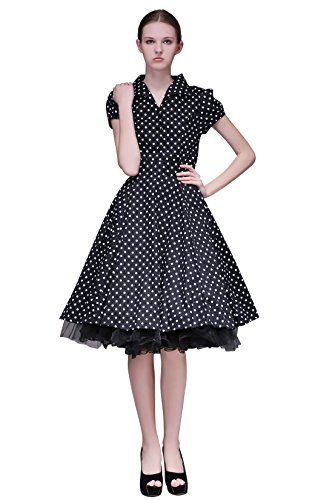 350216ce377 Penelope Vintage 1940 s 1950 s Classic Rockabilly Full Circle Dress (US8