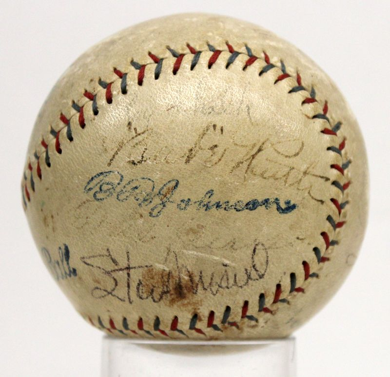 Babe Ruth Cobb Johnson Speaker Signed Autographed Baseball Hall Of Fame Jsa 3113 Babe Ruth Babe Ruth Autograph Ty Cobb