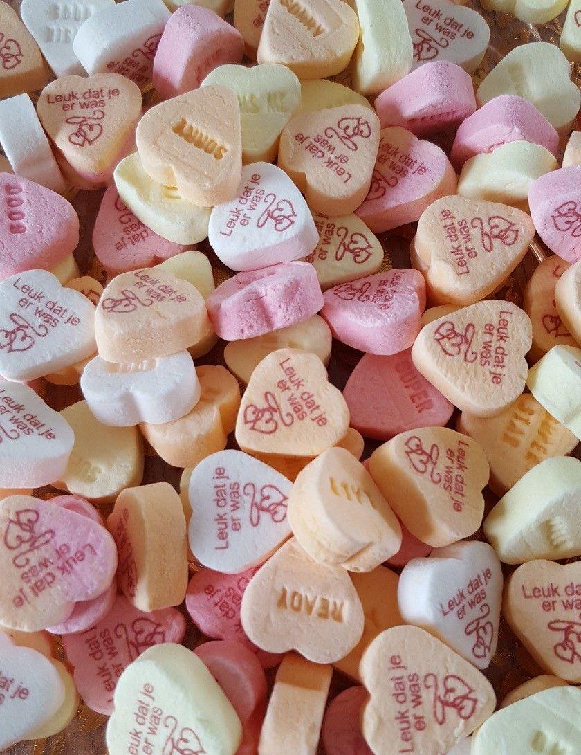 Hedendaags Bedrukte snoephartjes Hartjes 1kg | Bedankjes, Bruiloftsfeest LQ-39