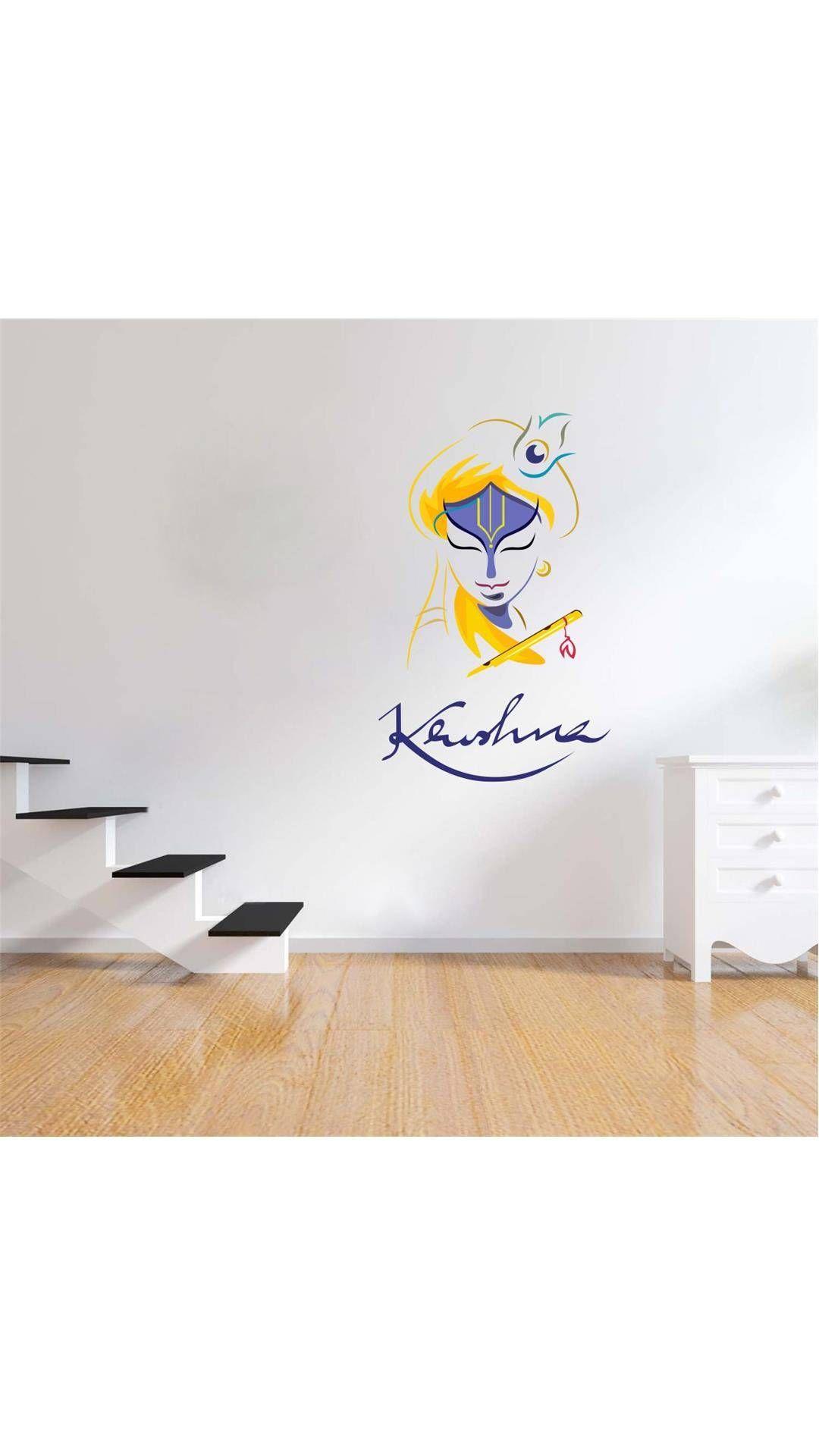 Paytmmall com buy wall sticker art krishnapvc vinyl3555 cm online at best prices in india on paytmmall com