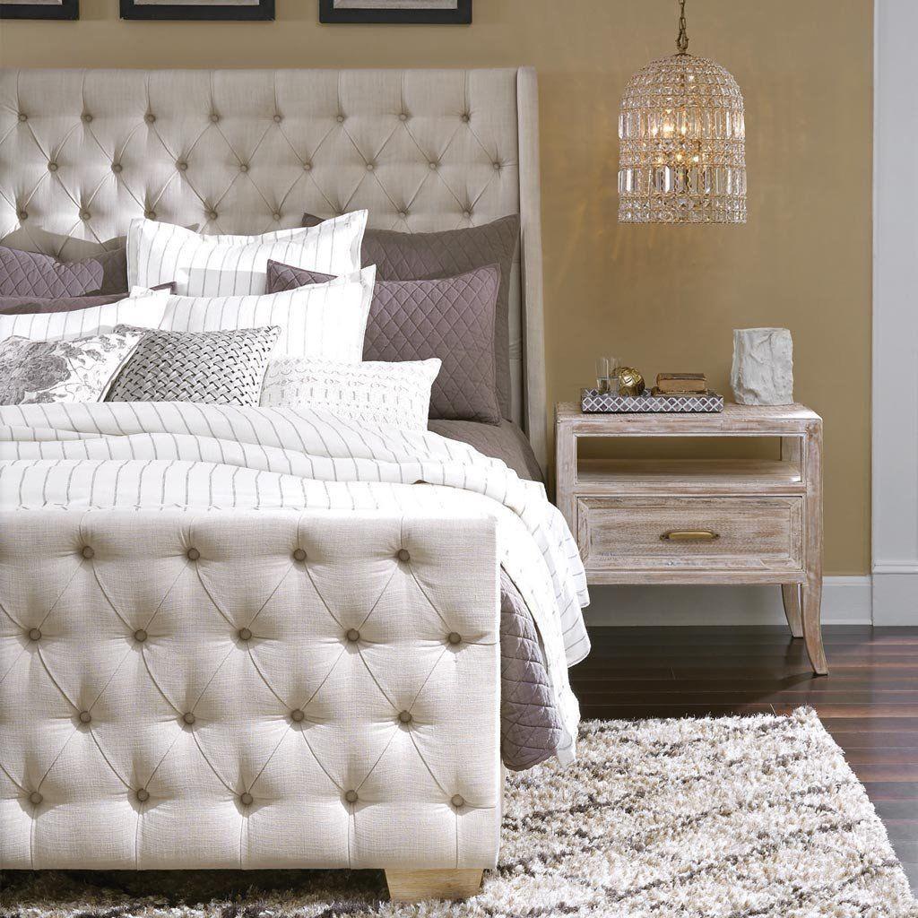 Laurent Tufted Bed Tufted bed, King size bed frame, Bed