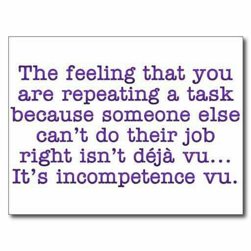 Repeating Yourself for Incompetent :Coworkers Postcard ...