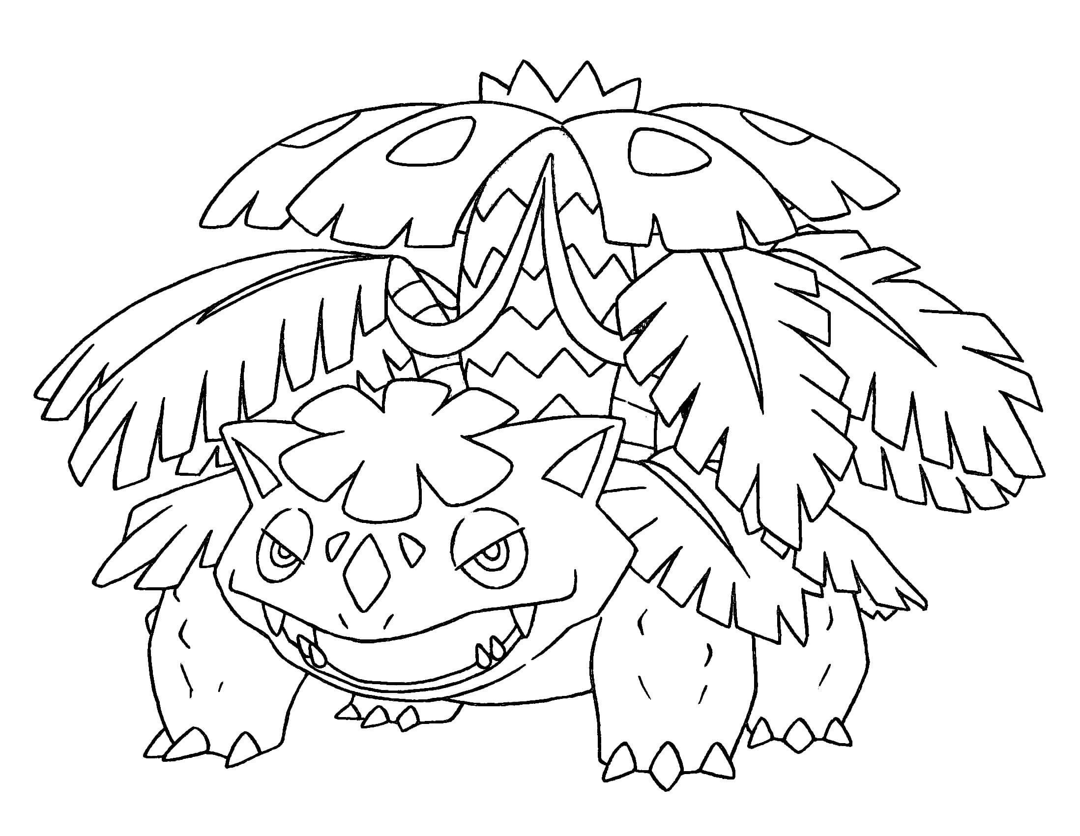 Pokemon Coloring Pages Mega Venusaur Pokemon Coloring Pages