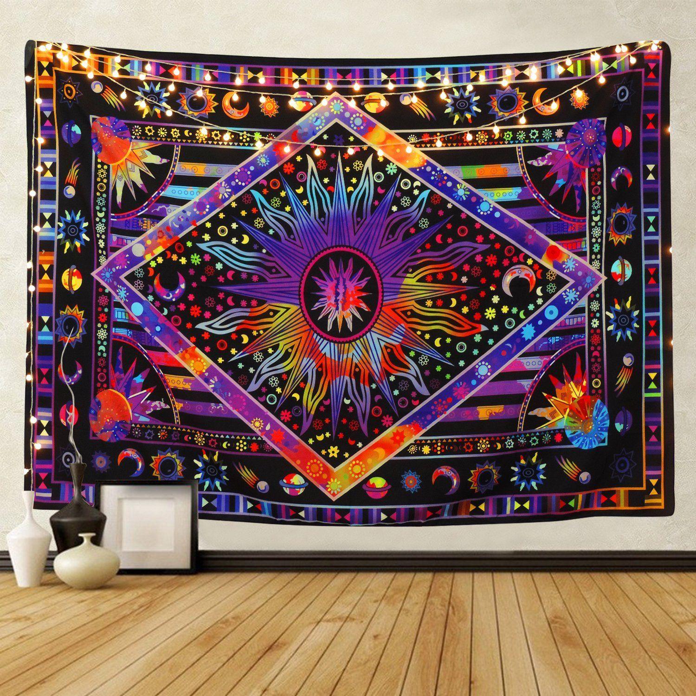 f735dcb02f09 Purple Psychedelic Mandala Sun Wall Tapestry in 2019 | ideas ...