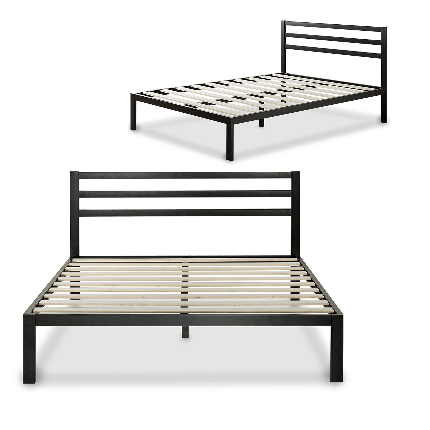 Bedroom Queen Zinus Modern Studio 14 Inch Platform 3000 Metal Bed Frame With Mattress Foundation And No Boxspring Needed From Fascinating