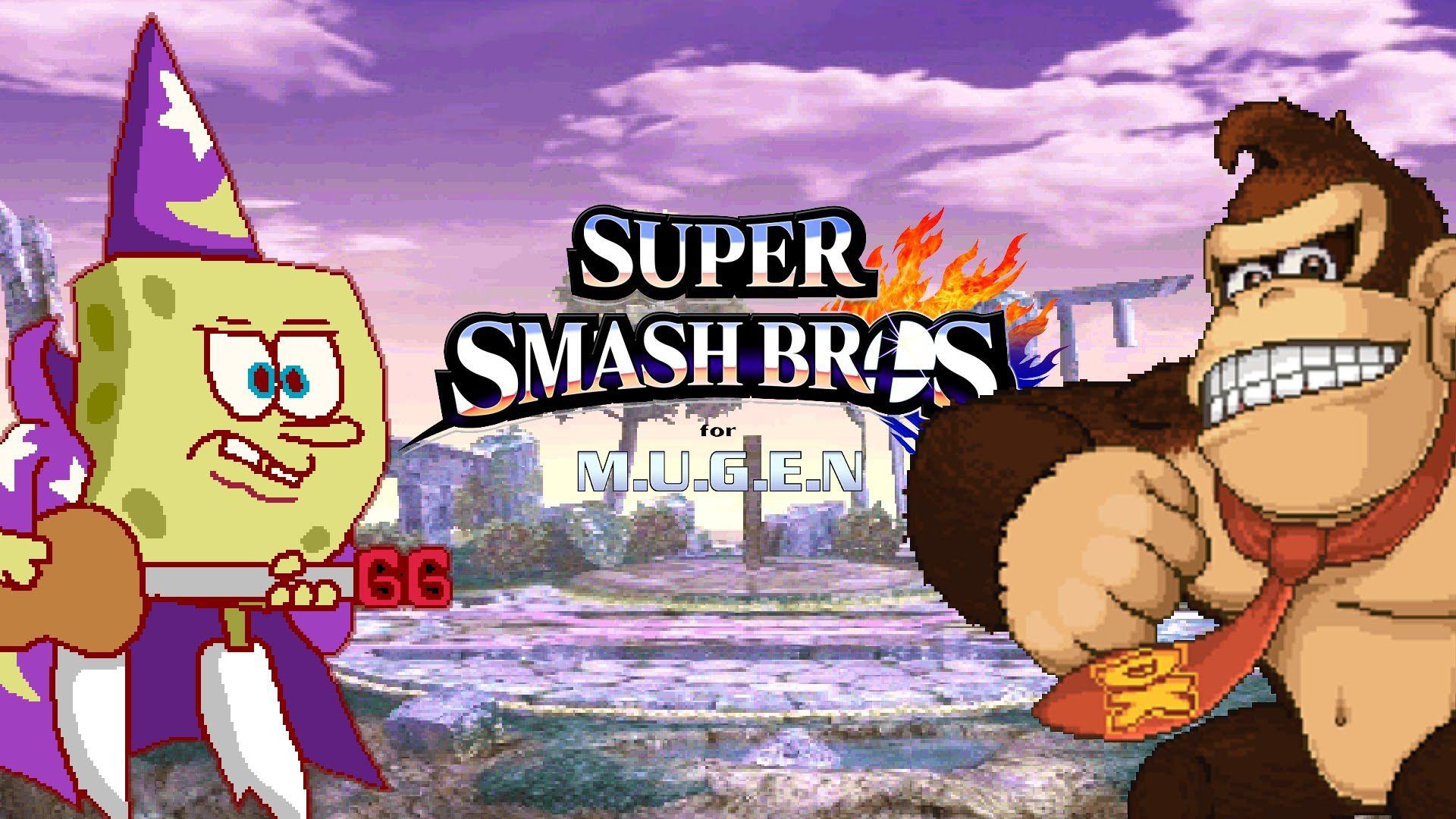 Super Smash Bros  Spongebob VS Donkey Kong MUGEN Ver  任天堂