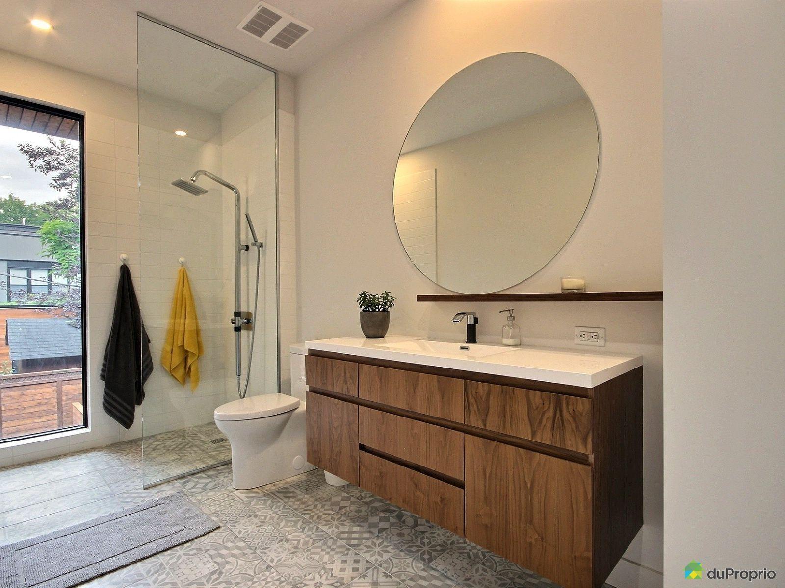quelle belle salle de bain on adore le plancher en cramique motif cette - Salle De Bain Sur Plancher