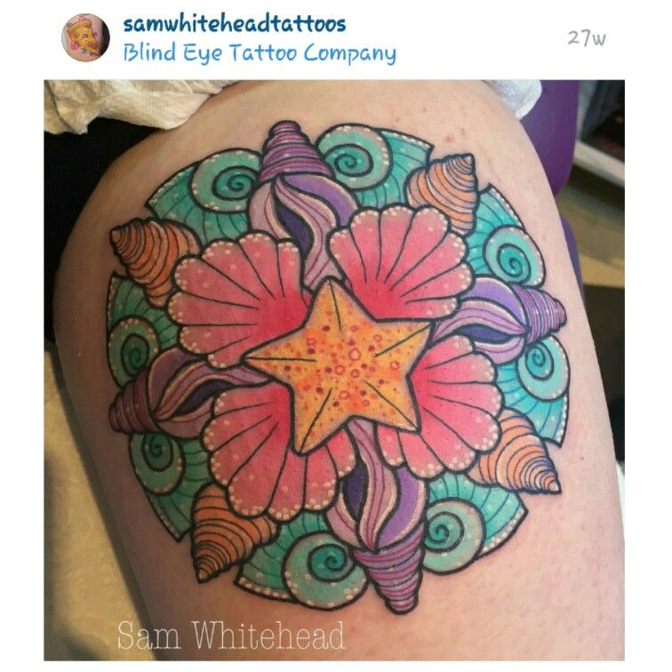 948d422cb Sea shell mandala | TATTOOS!!!!!! | Shell tattoos, Seashell tattoos ...