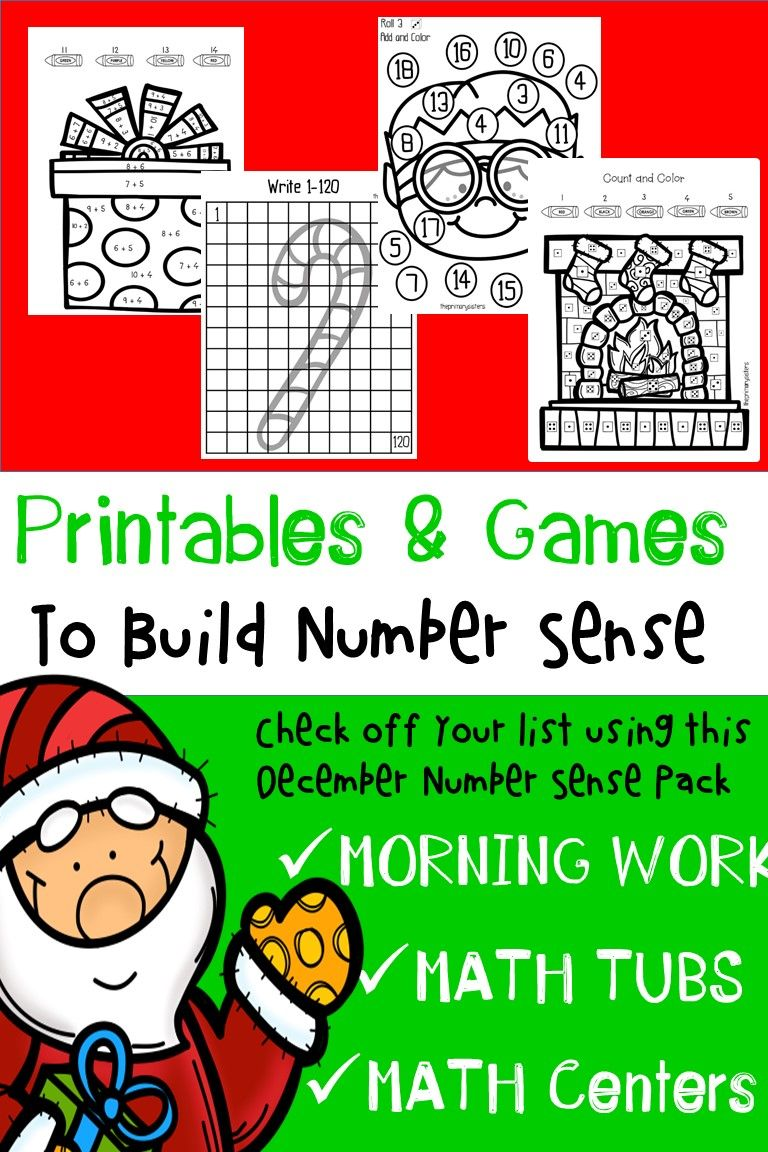 December/Christmas Math Activities | Math tubs, Morning work and ...