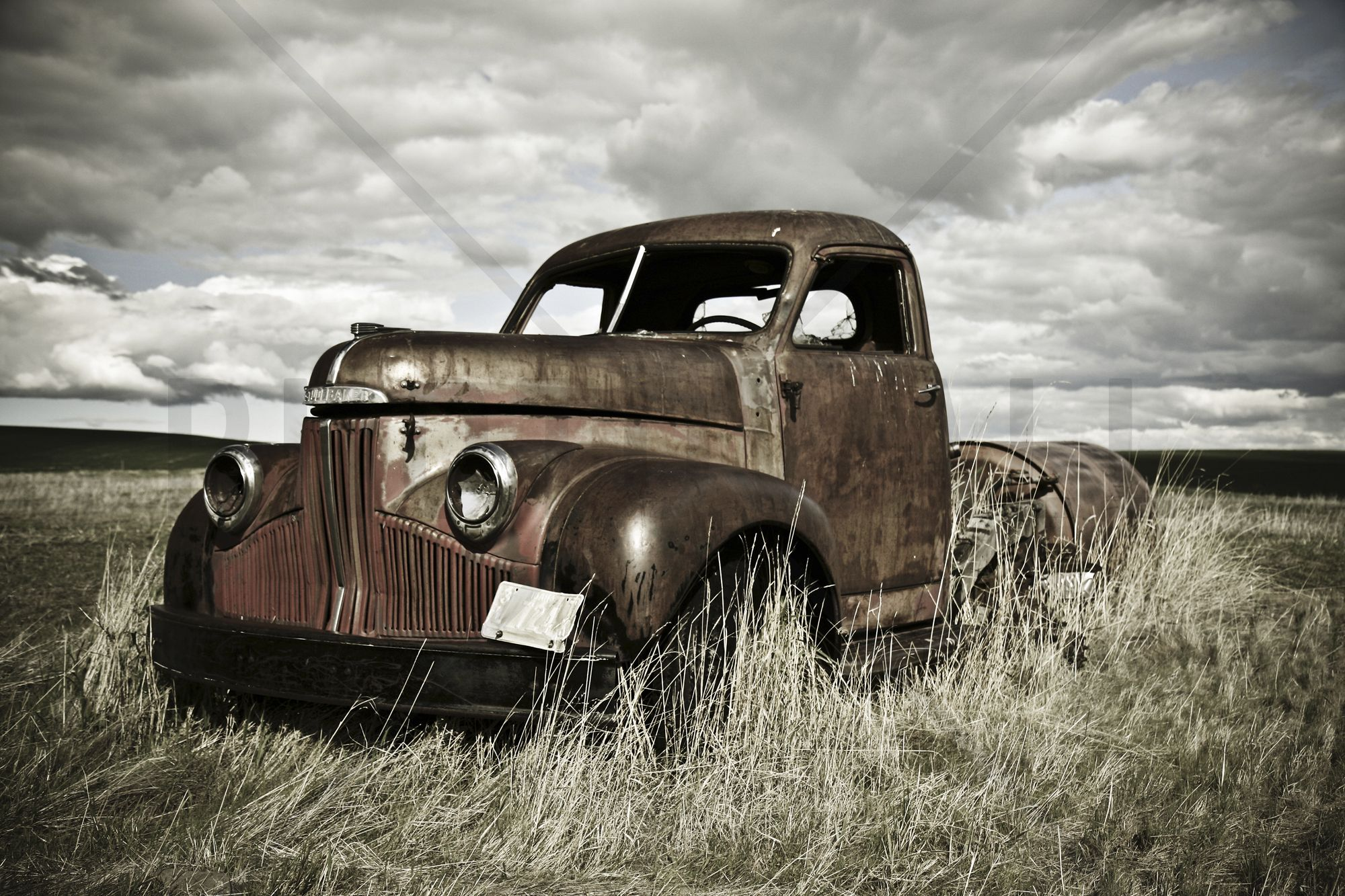 30 sqm love this old truck out in the field wall old truck out in the field wall mural photo wallpaper