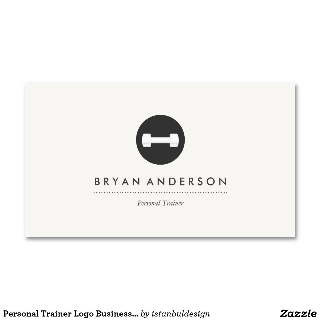 Personal Trainer Logo Business Card | Business cards, Logos and ...
