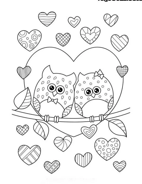 500+ Amazing Valentines Day Colouring Pages To Print-Valentines Day Coloring  Pages … Owl Coloring Pages, Heart Coloring Pages, Printable Valentines  Coloring Pages