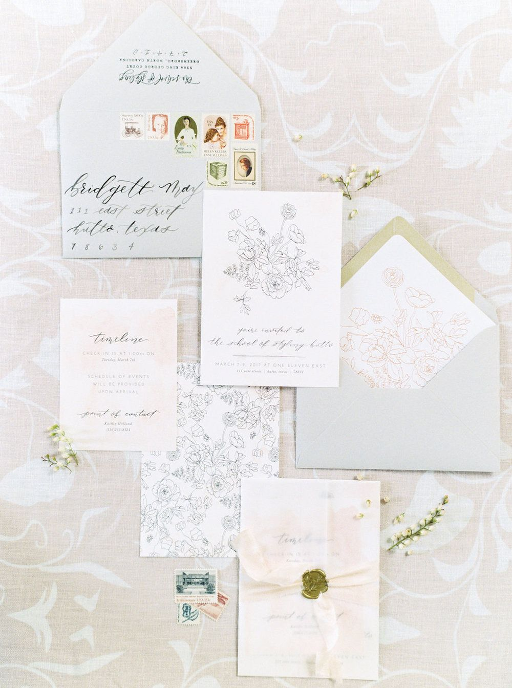 Pin by Letter Lane Design Studio on wedding stationery + paper goods ...