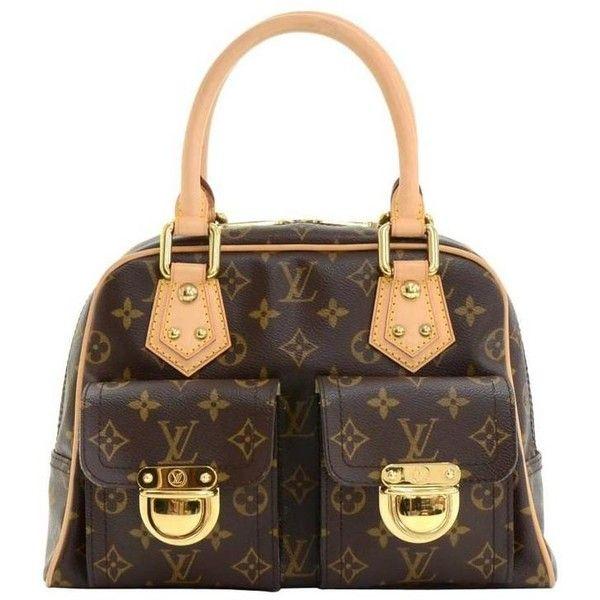 3e4e08ecea81 Preowned Louis Vuitton Manhattan Pm Monogram Canvas Hand Bag ( 1