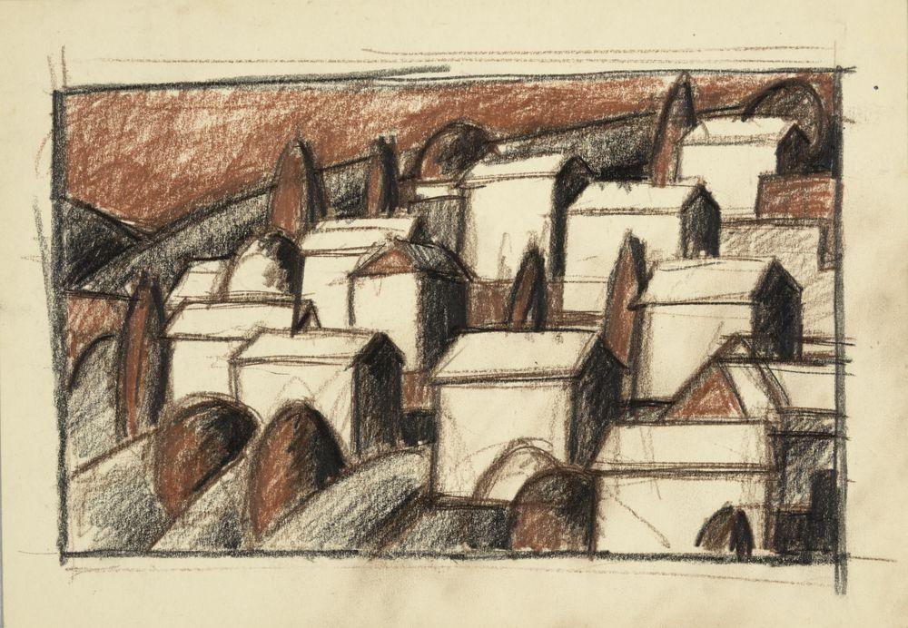 ohne Titel [Landschaft mit Häusern] Kulturstiftung