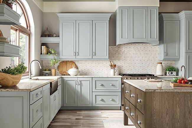 Best Kraftmaid Behr Color Rocky Mountain Sky New Kitchen 400 x 300