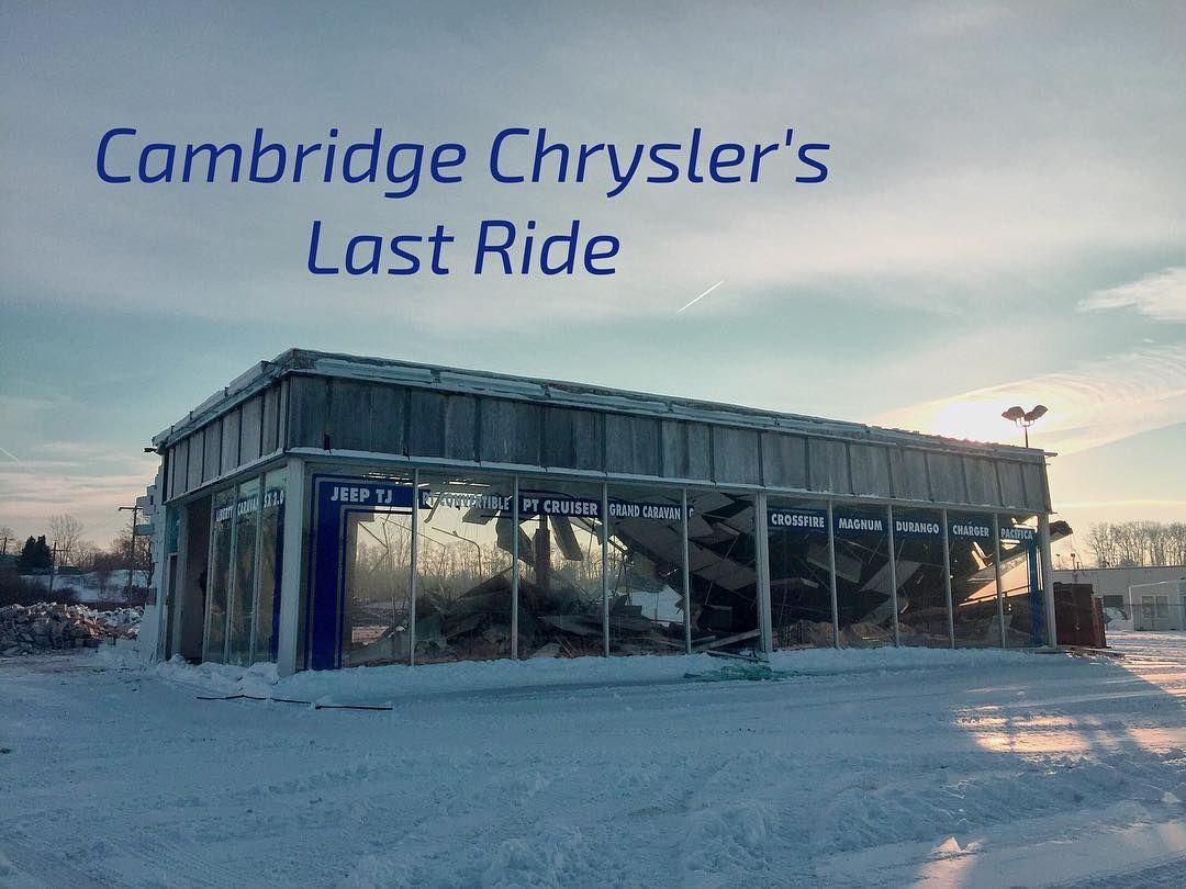 Cambridge Chrysler being demolished today #mycbridge # ...
