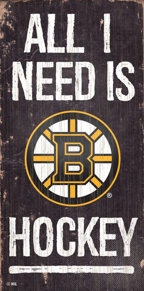 Nhl All I Need Is Boston Bruin Hockey Wooden Sign Bruins Hockey Boston Bruins Boston Bruins Hockey