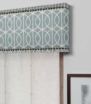 Cornice With Nailheads | Diy window treatments, Bathroom ...