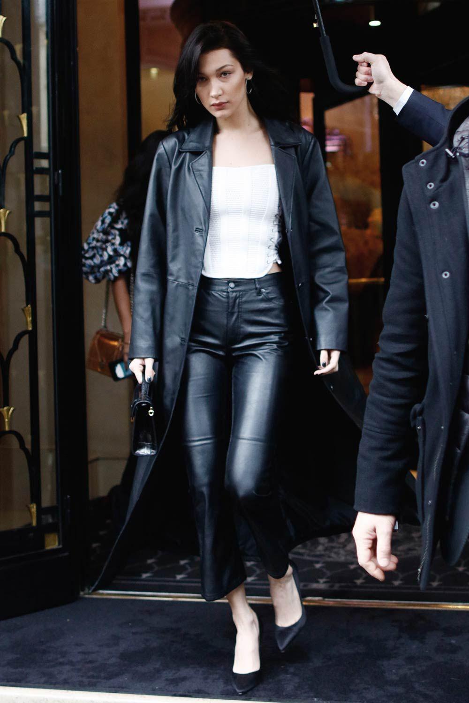 Bella Hadid Leaving Her Hotel Bella Hadid Style Bella Hadid Royal Blue Outfits [ 1500 x 1000 Pixel ]