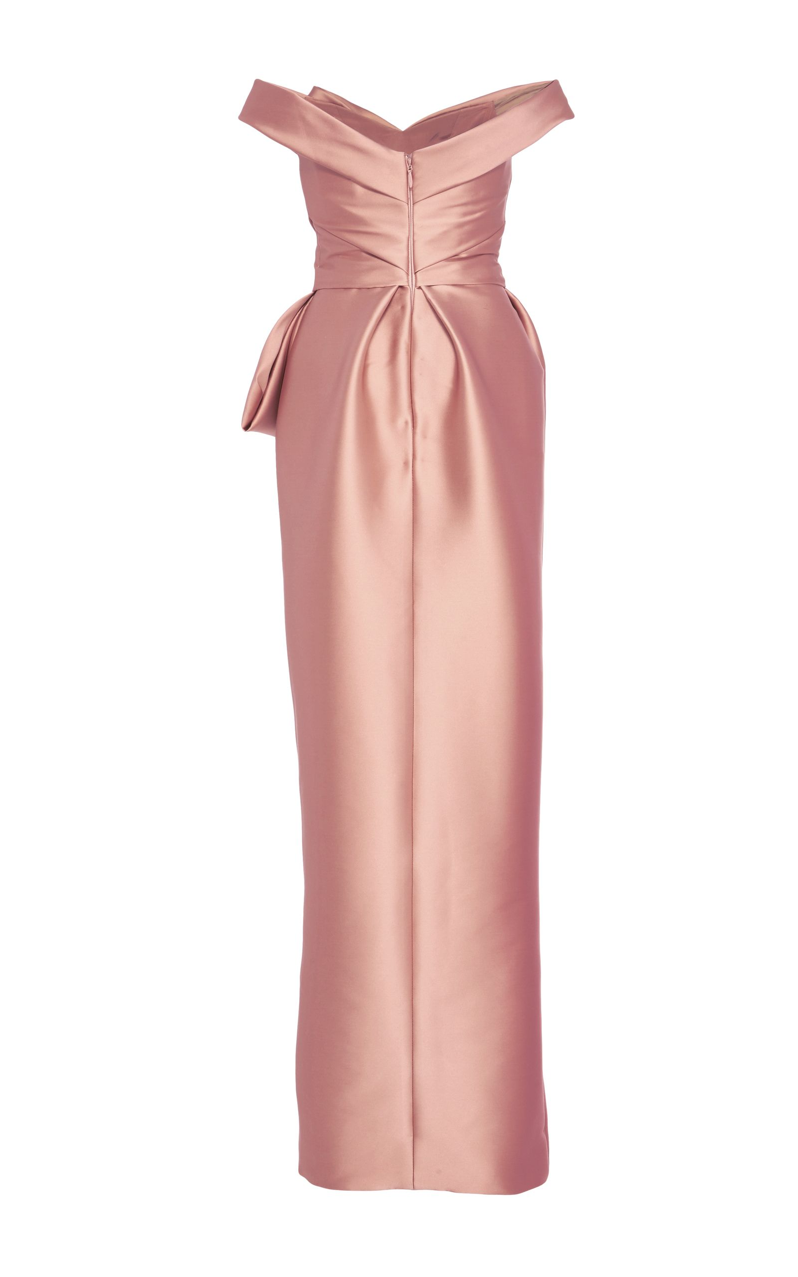 Off-the-shoulder Satin Gown - Pink Monique Lhuillier SPbDjGW