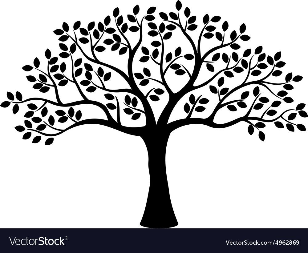 Illustration Of Tree Silhouette Download A Free Preview Or High Quality Adobe Illustrator Ai Eps Pdf And High Tree Wall Art Family Tree Art Tree Silhouette