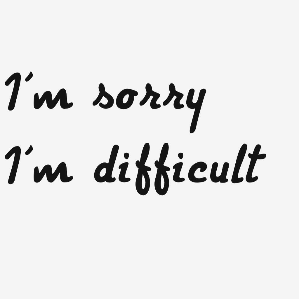Sorry: I'm Sorry, I Don't Mean To Be