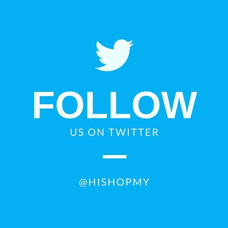 Follow us on twitter for latest updates on our new member rewards, promos, contest, giveaway vouchers & gifts and also new brands.... Fuh.... That's alot ya and it's for our fans☺️. #awesome #followme #twitter #hishopmy #newmemberupdate #promo #giveaway #new #brand