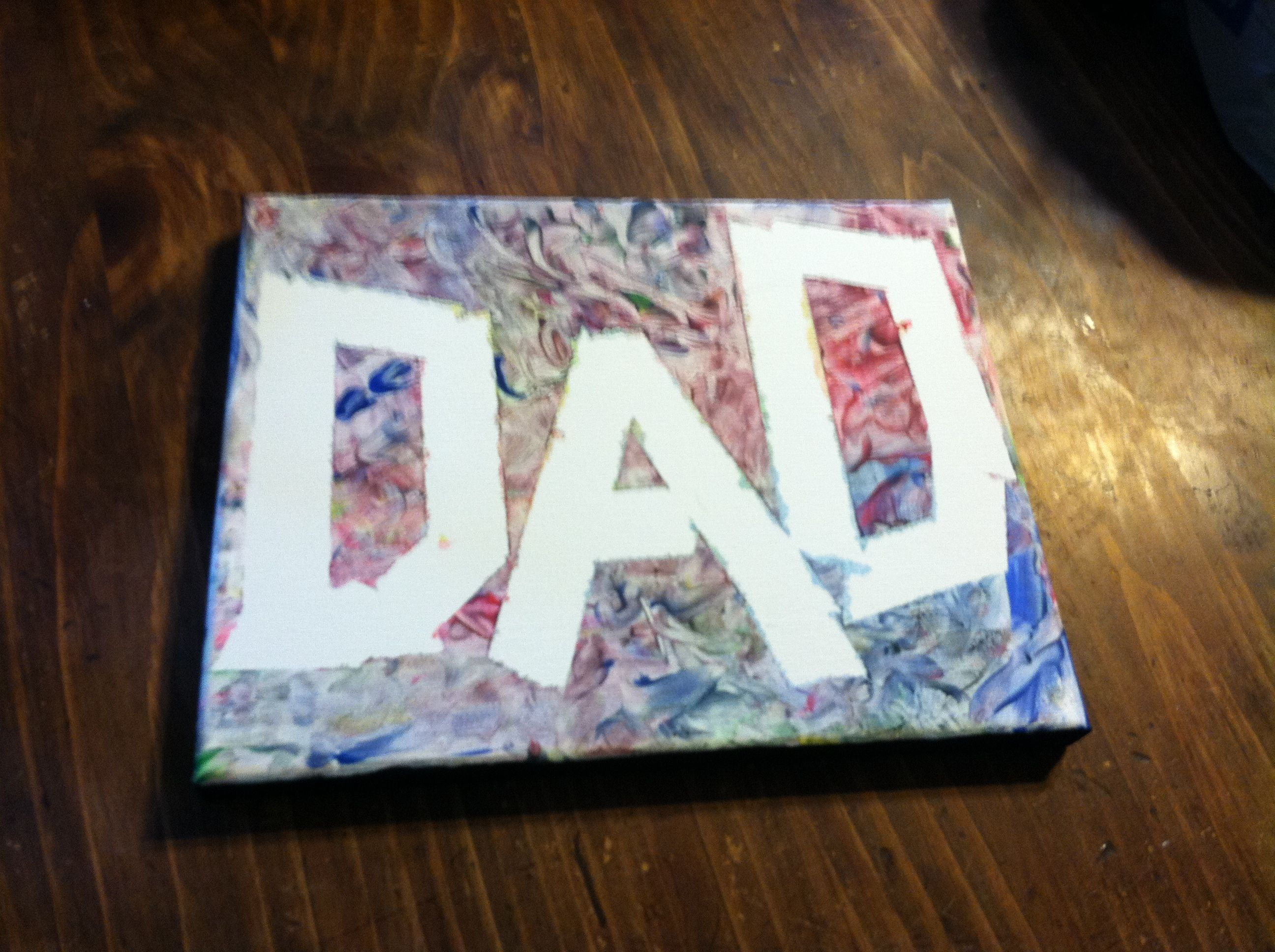 Fathers Day Present From Baby Finger Paint And Tape